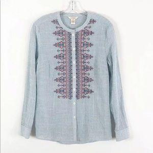 Sundance | Embroidered Stripe Shirt